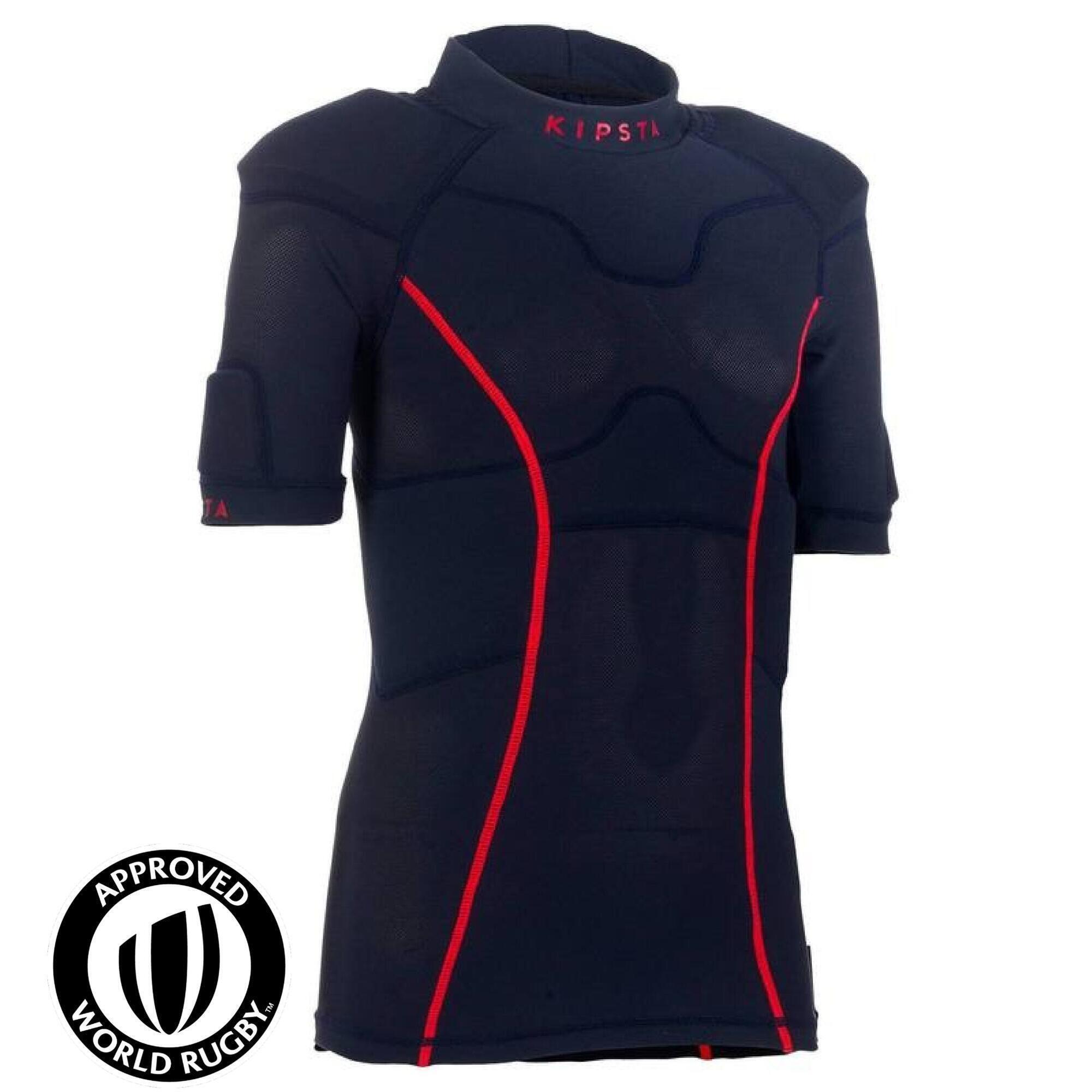 Kipsta Rugby schouderstuk voor kinderen Full H 100 marineblauw/rood