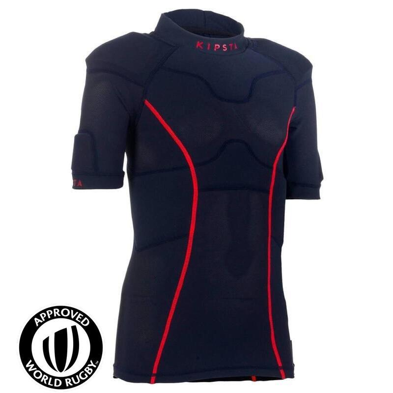 100 Junior Rugby Shoulder Pads - Blue
