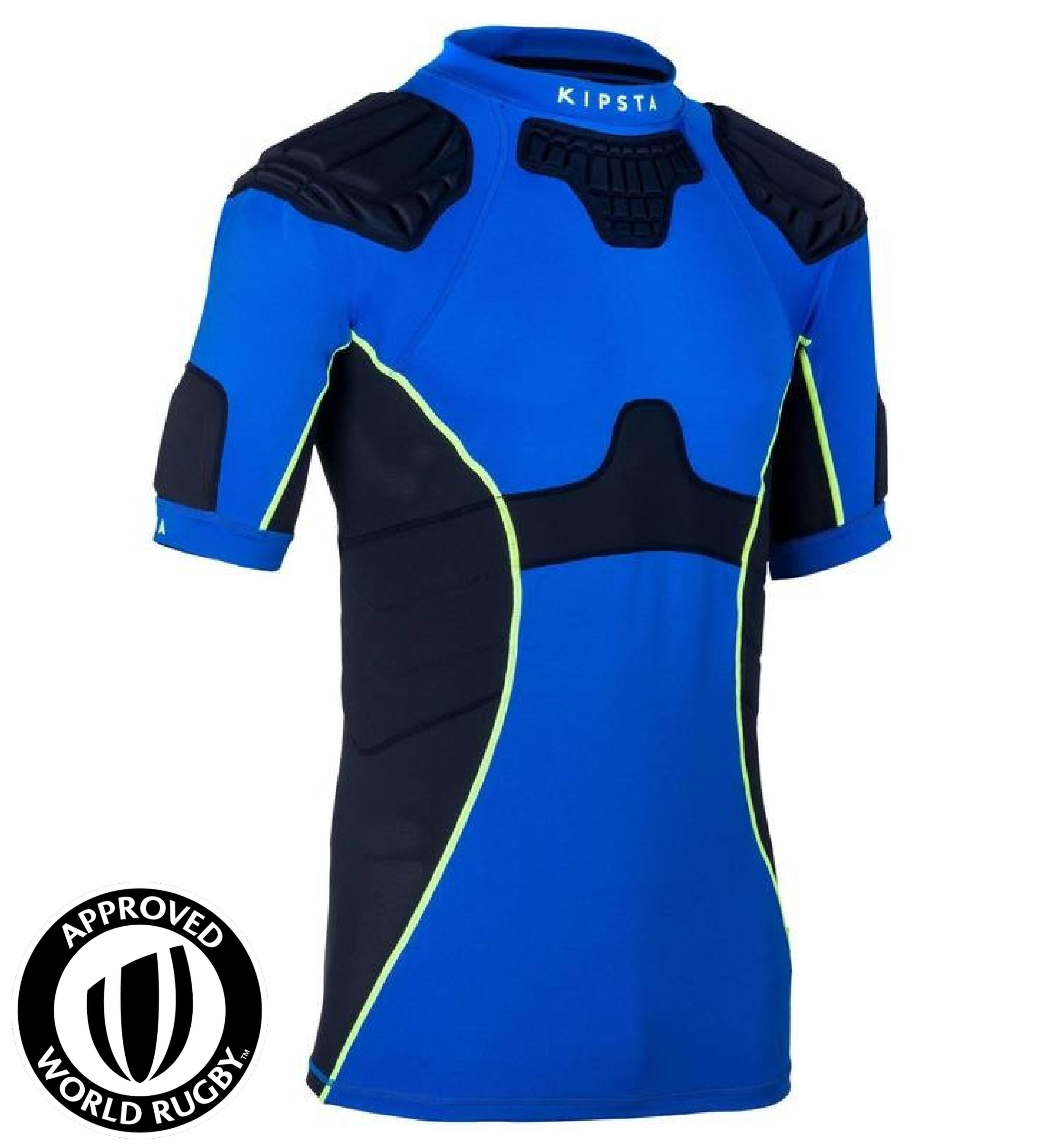 Kipsta Rugby shoulderpad volwassenen Full H 500 blauw
