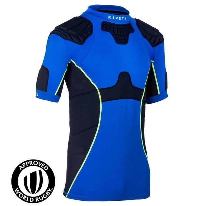 R500 Adult Rugby Shoulder Pads - Blue