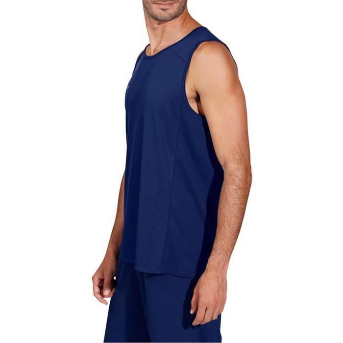 Basketbalshirt T100 marineblauw (heren)