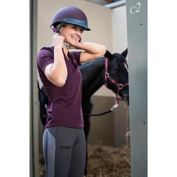 Pantalon équitation femme 100 LIGHT gris