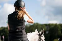 Chaleco equitación fouganza 100 mujer negro