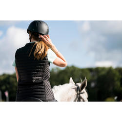 Chaleco equitación mujer 100 negro