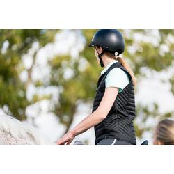 Polo Equitación Fouganza 140 Mujer Celeste Manga Corta