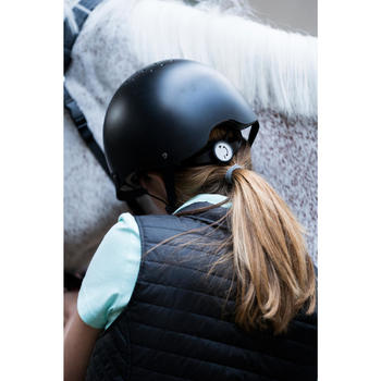Casque d'équitation C100 noir - 1282880