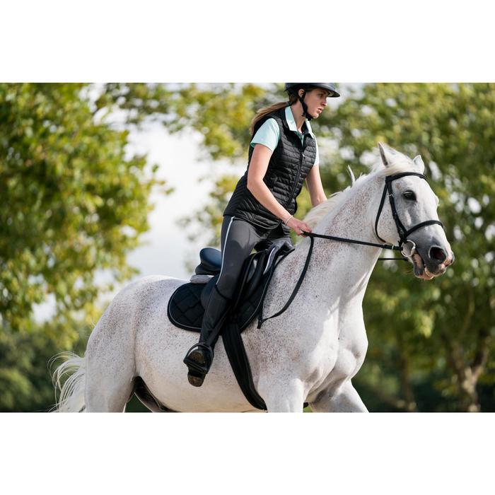 100 Women's Horse Riding Sleeveless Gilet - Black
