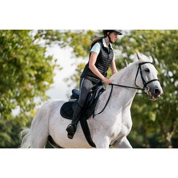 Gilet sans manche équitation femme 100 noir