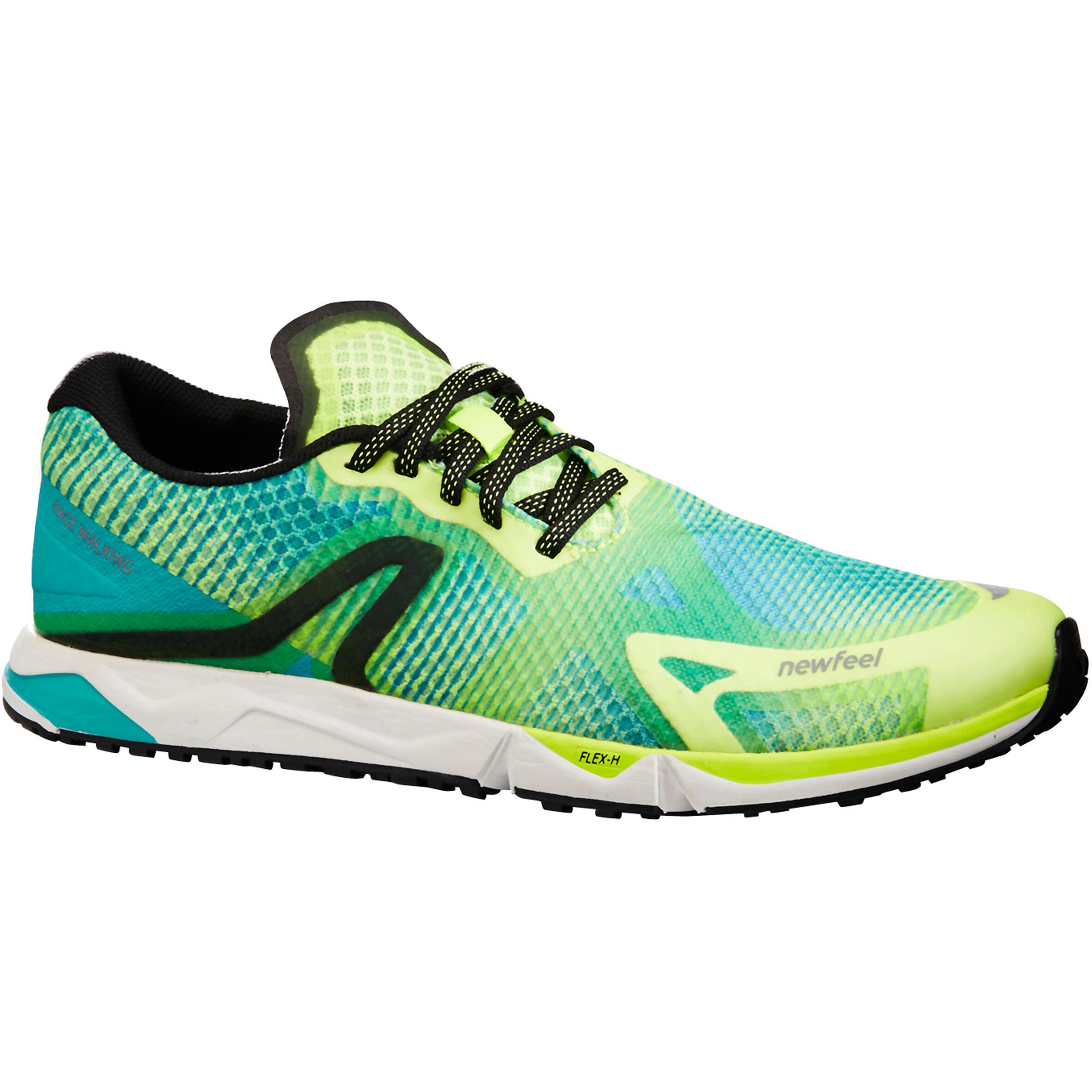 Chaussures de marche athlétique RW 900 jaunes et bleues - Newfeel