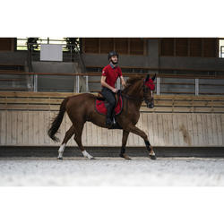 Polo manches courtes équitation homme 100 rouge