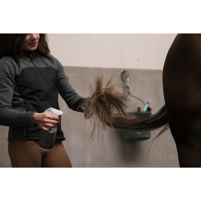 Sudadera equitación niños dos materias 500 gris