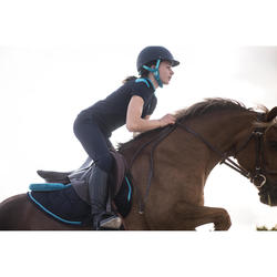 Casco equitación C120 azul marino/turquesa