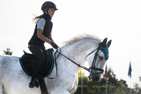 Chaleco Equitación fouganza 500 Mujer azul marino