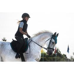 Hoofdstel ruitersport 580 strass zwart - maat paard