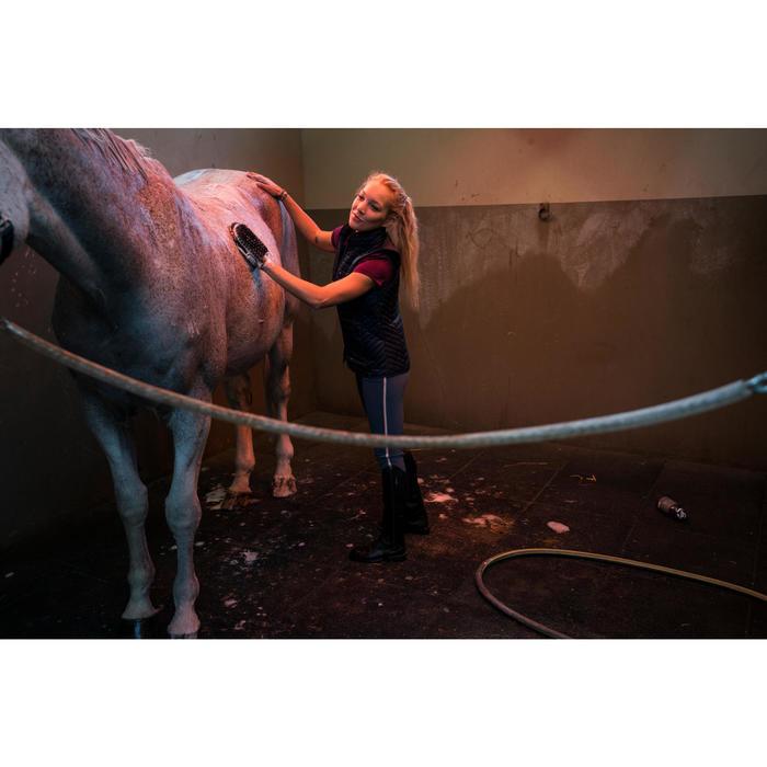 Pantalon équitation femme BR340 Stripe basanes agrippantes gris bleuté