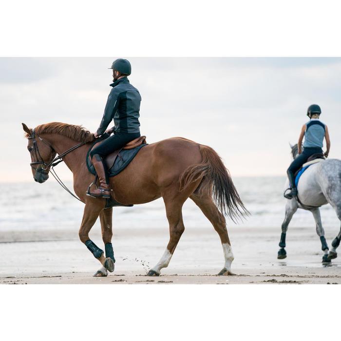 Chaqueta equitación hombre 500 SOFTSHELL gris oscuro