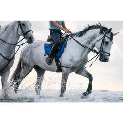 Mantilla de silla equitación poni y caballo 580 azul eléctrico