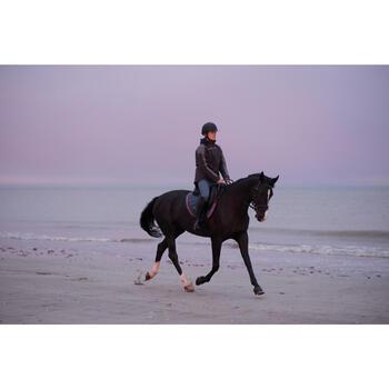 Mantilla equitación caballo y poni 580 gris/ribete rosa
