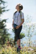 Lány póló, nadrág, rövidnadrág 7-15 év Túrázás - Hike 500 lány legging QUECHUA - Gyerek túraruházat