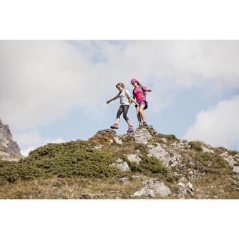 Wanderleggings Hike 500 Kinder Mädchen grau