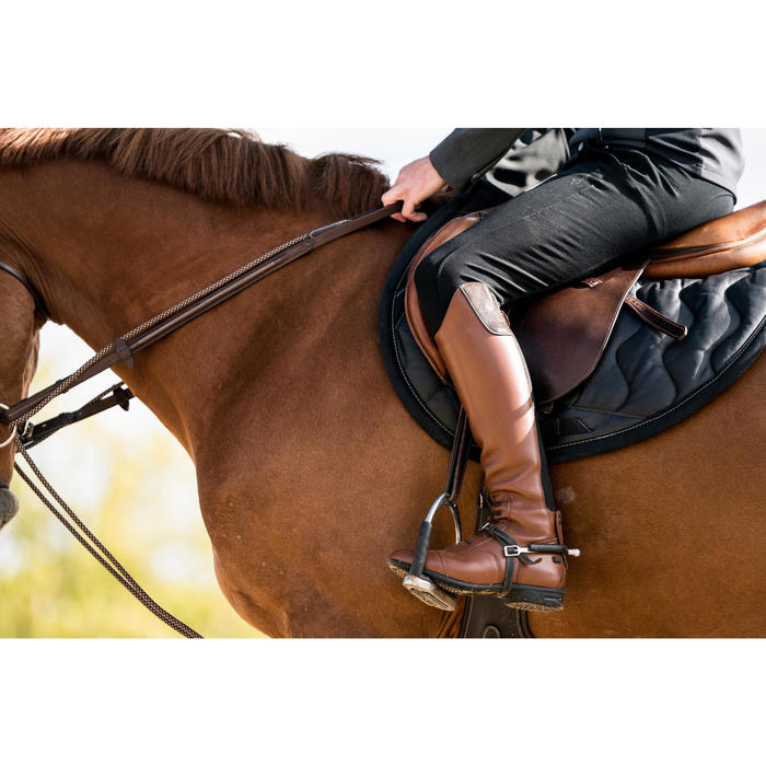 Bottes cuir équitation adulte LB 900 - 1283034