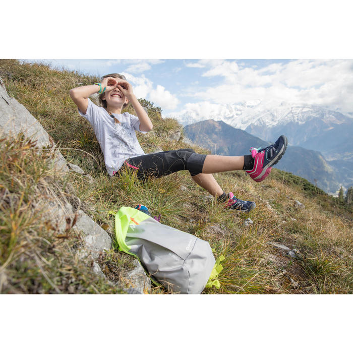 CAMISETA de senderismo niños Hike 500 azul turquesa