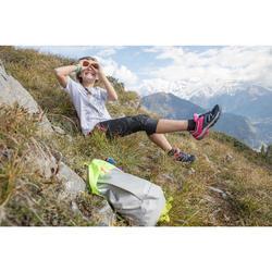 Chaussures de randonnée montagne basses avec lacet fille Crossrock turquoise