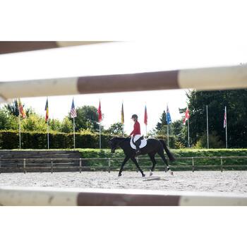 Tapis de selle équitation cheval 540 blanc