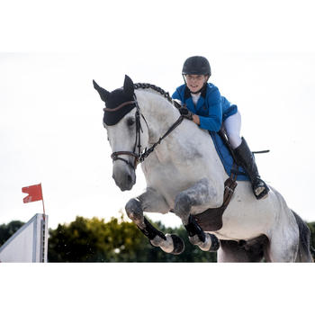 Veste de Concours équitation femme COMP100 bleu roi - 1283061