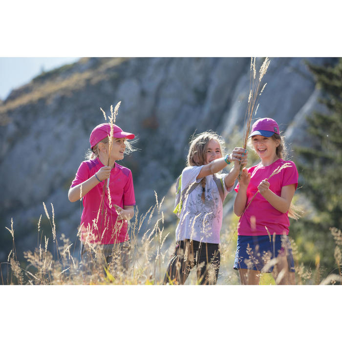 Wandershirt Hike 900 Kinder Jungen orange