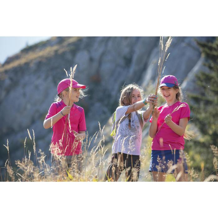 Wandershirt Hike 900 Kinder Mädchen türkis