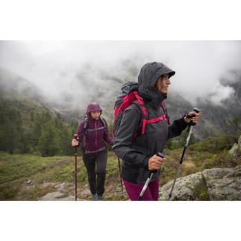 Veste de pluie imperméable de randonnée montagne MH900 Femme Rouge orangé