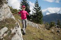 BOTTES de randonnée montagne enfant MH500 montantes imperméables grises/rose