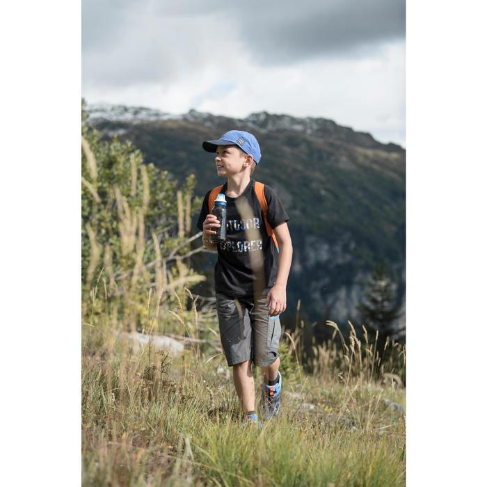 Wandelshort voor jongens Hike 500 grijs met print