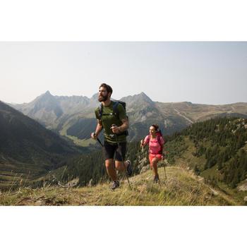 Men's short-sleeved MH 500 mountain hiking t-shirt - Blue Duck-dive