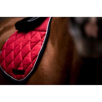 Tapis de selle équitation cheval 540 rouge