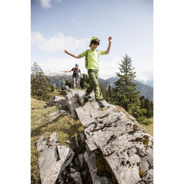 Gorra de senderismo niño Hike 500 verde