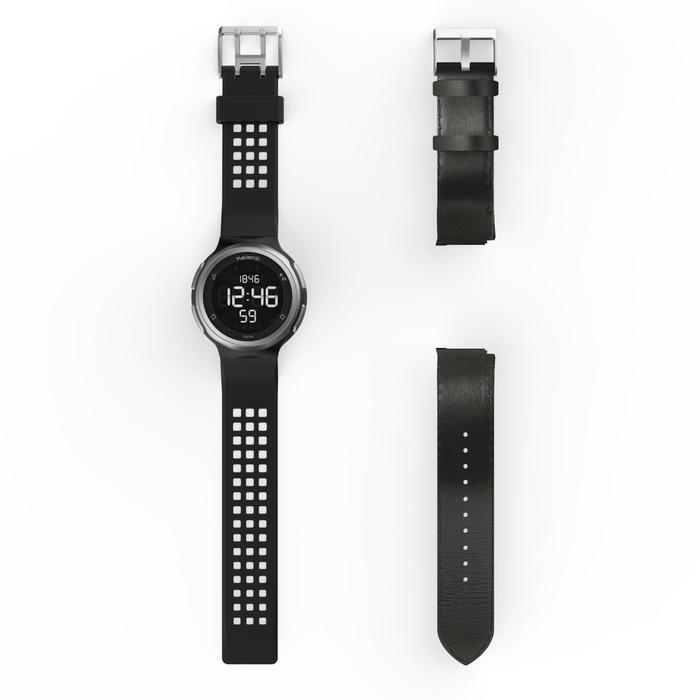 Montre chronomètre de course à pied homme W900 noire reverse - 1283129