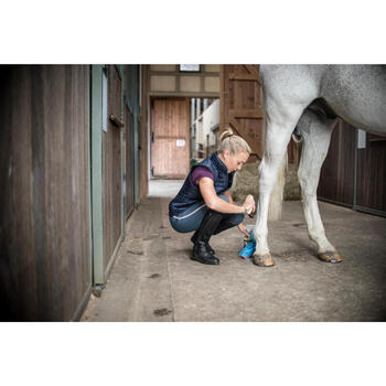 Chaleco equitación mujer 100 azul marino