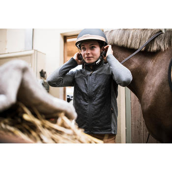 Sudadera Equitación Fouganza 500 Niño Gris con 2 Materiales