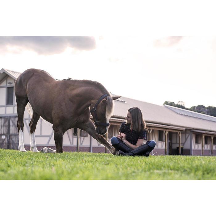 Polo manches courtes équitation fille PL140 GIRL motifs blancs - 1283152