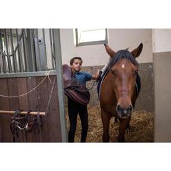Polo manga corta equitación niño PL140 BOY azul grisáceo