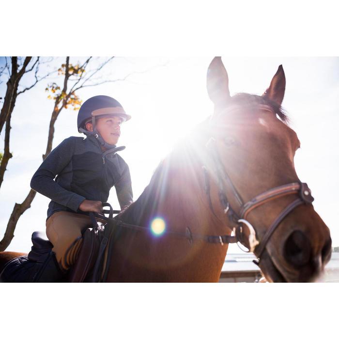 Sudadera equitación niños SW500 gris