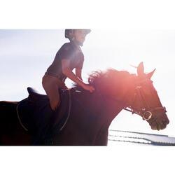 Polo manga corta equitación niño PL140 BOY gris