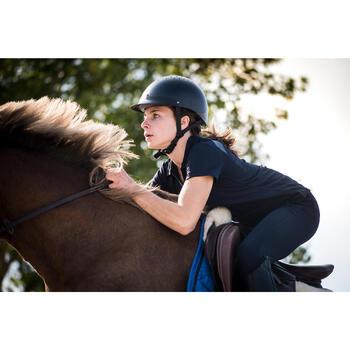 Casque d'équitation C100 noir - 1283166