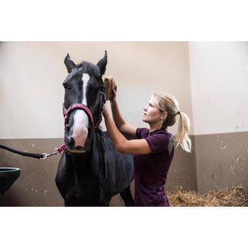 Polo manches courtes équitation femme PL500 MESH bleu marine et - 1283177