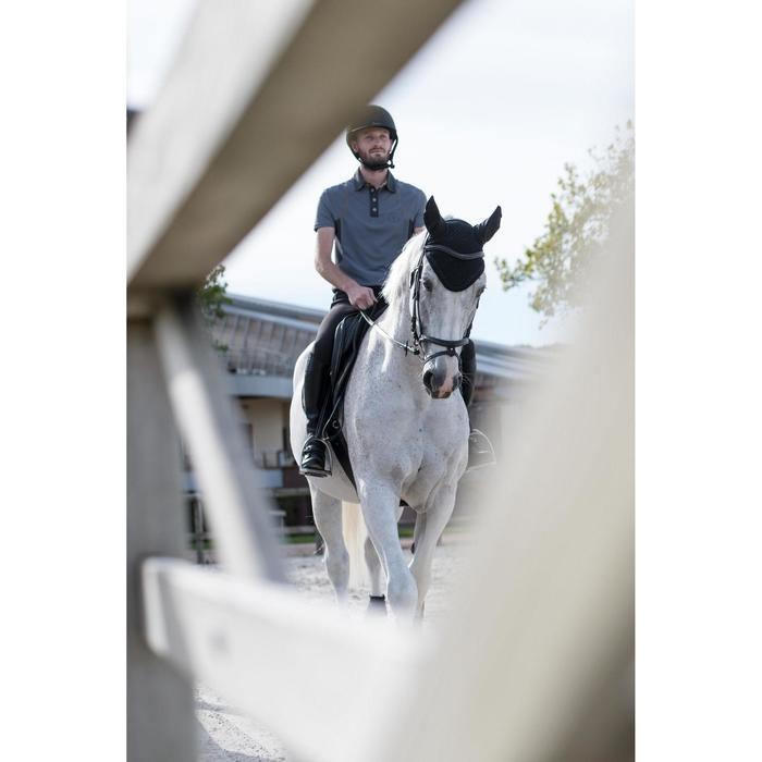 Polo manga corta equitación hombre 500 MESH gris y camel