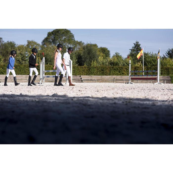 Chaqueta de competición equitación júnior COMP 100 azul regio