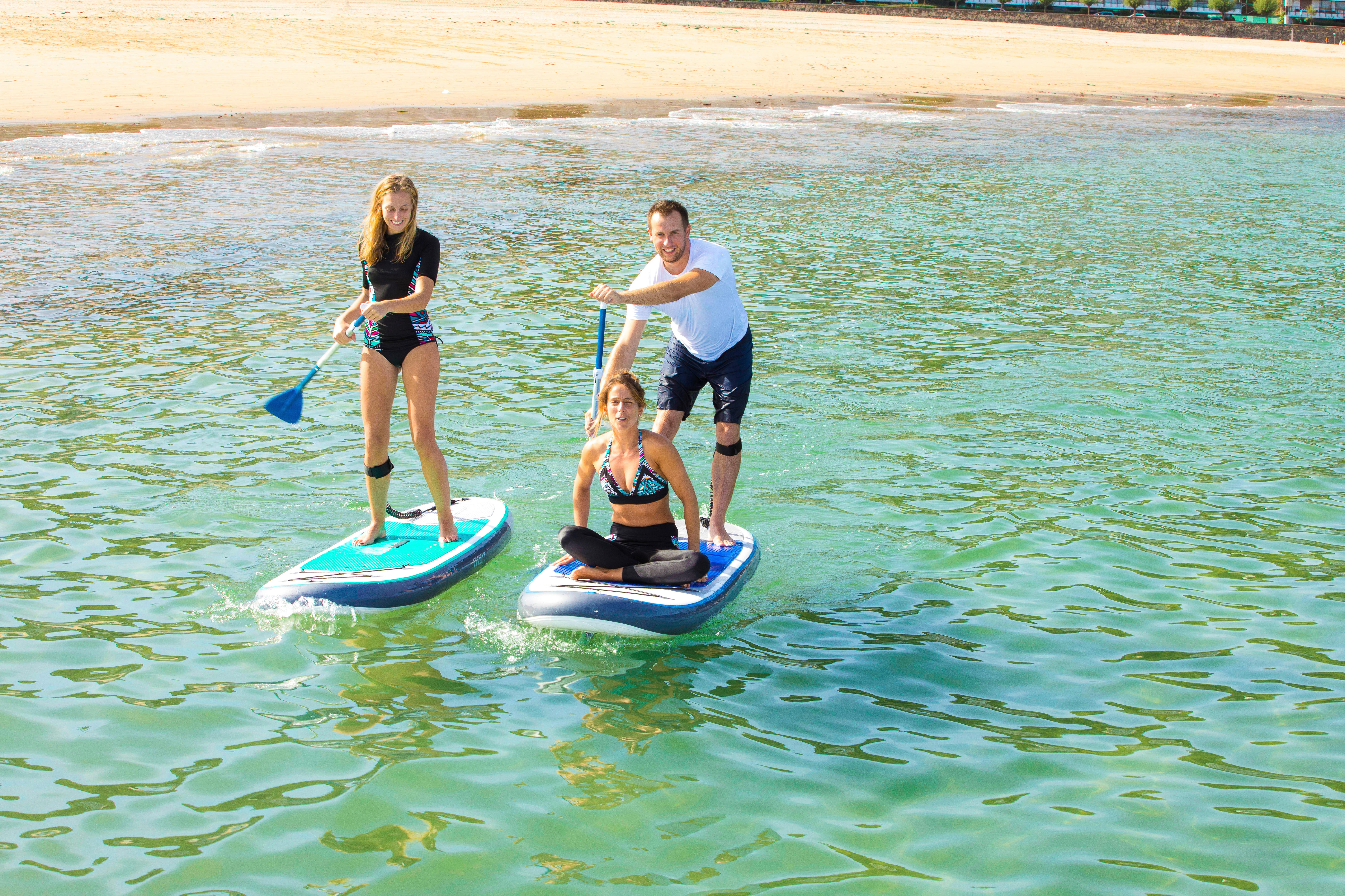 100 Inflatable 10'7 Touring Stand Up Paddle - Blue