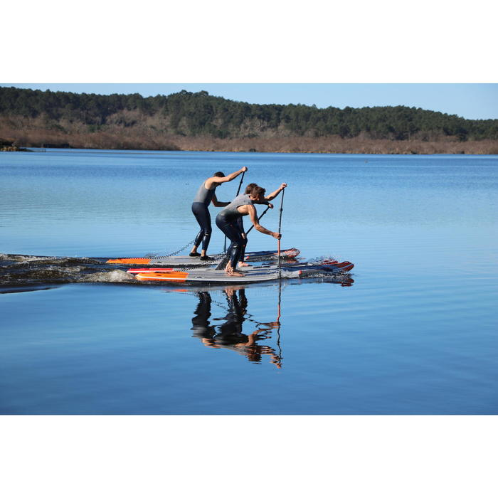"""STAND UP PADDLE GONFLABLE RANDONNEE COURSE 500 / 12'6-26"""" ROUGE"""